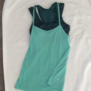 Lulu workout top with built in bra